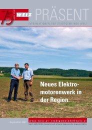 Neues Elektro motorenwerk in der Region - Stadtgemeinde Weiz