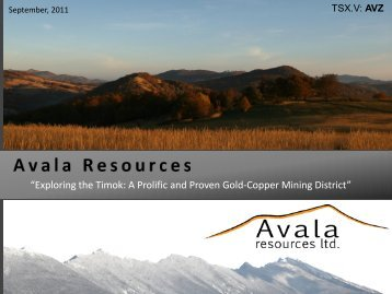 """""""Exploring the Timok A Prolific and Proven Gold-Copper Mining District"""""""