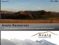 """A New Gold Discovery in a Prolific and Proven Copper-Gold Mining District"""