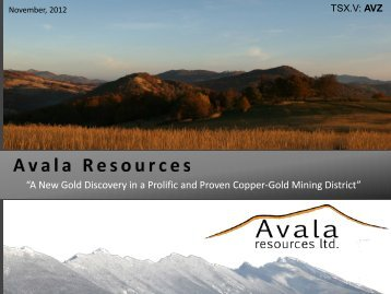 """""""A New Gold Discovery in a Prolific and Proven Copper-Gold Mining District"""""""