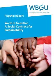 World in Transition: A Social Contract for Sustainability - WBGU