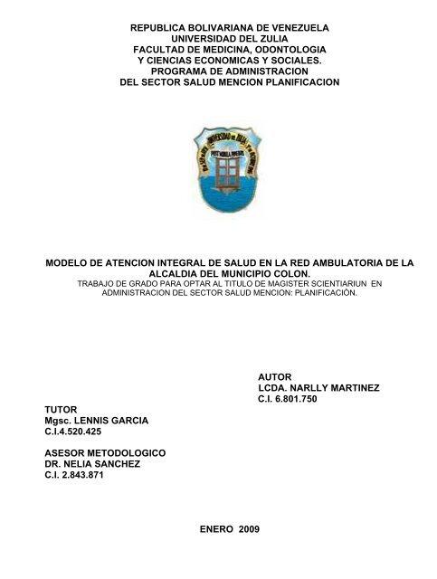 Republica Bolivariana De Venezuela Universidad Del Zulia