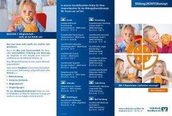 Bildungs[KONTO]Konzept - Volksbank Nordharz eG