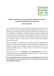 Fragen und Antworten zur Verordnung (EG) Nr. 842/2006 über ...