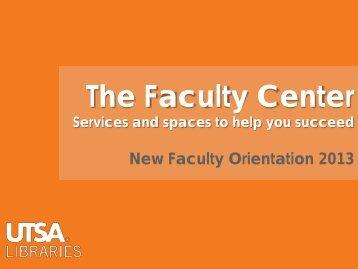 The Faculty Center