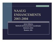 NAAUG ENHANCEMENTS 2003-2004