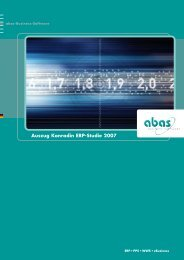 Preis- Leistung isnähe - abas-Software-Partner