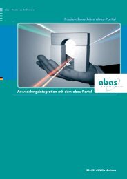 Anwendungsintegration mit dem abas-Portal - abas-Software-Partner