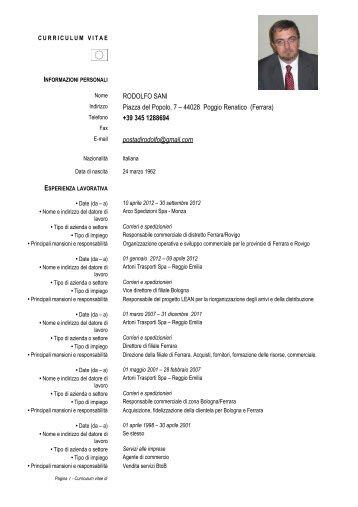 All. 07_ Mod. curriculum europeo - Comune di Poggio Renatico