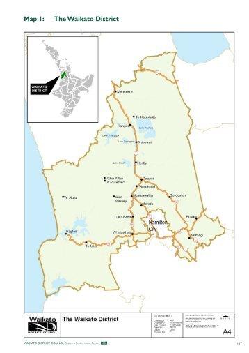 Map 1 The Waikato District