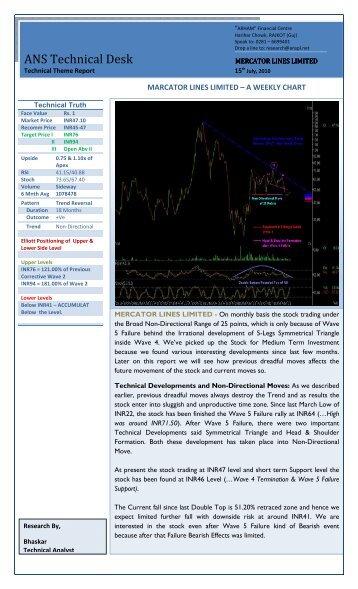 Mercator Lines Limited - ANS Pvt. Ltd.