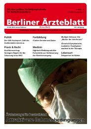 Medizin - Berliner Ärzteblatt