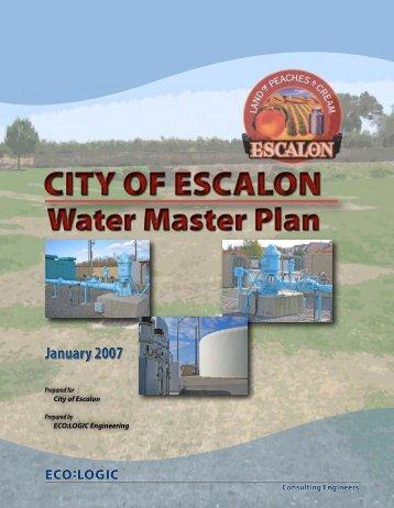 Water Master Plan - City of Escalon