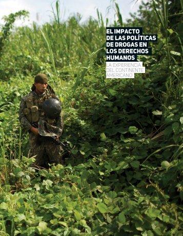 de drogas en los derechos humanos