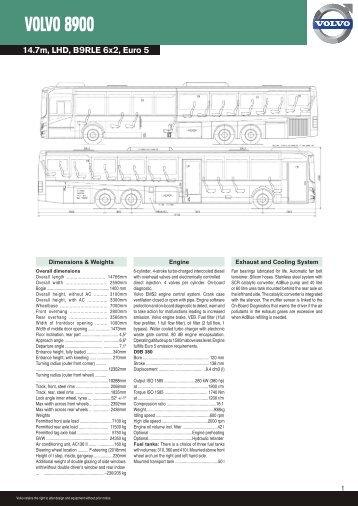 VOLVO 8900 - Revista Viajeros