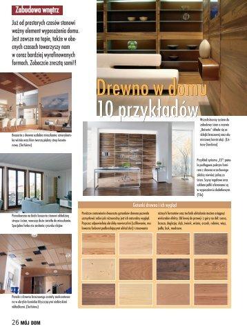 Drewno w domu 10 przykładów