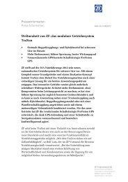 Pressetext herunterladen (PDF, 103 KB) - ZF Friedrichshafen AG