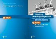 Forum Hepatologie 2011 Einladung - Ärztekammer Berlin