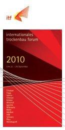 itf – internationales trockenbau forum, Salzburg 18.