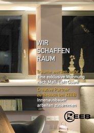 WIR SCHAFFEN RAUM - ZEEB Innenausbau GmbH Stuttgart