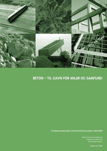 BETON - TIL GAVN FOR MILJØ OG SAMFUND