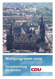 Kommunalwahlprogramm - CDU Aachen
