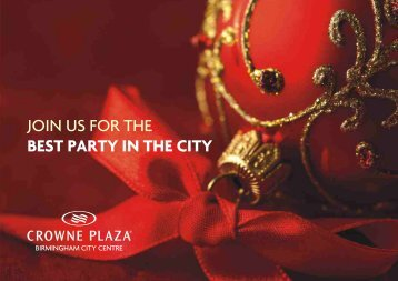 JOIN US FOR THE BEST PARTY IN THE CITY