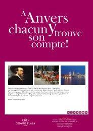 Pour votre séminaire vous avez choisi le Crowne Plaza Anvers et ...