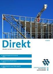 ZDB-Direkt 1-2012.pdf - Zentralverband Deutsches Baugewerbe
