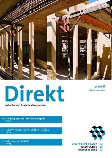 ZDB-Direkt 5/2008 - Zentralverband Deutsches Baugewerbe