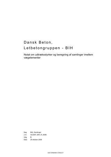 Dansk Beton Letbetongruppen - BIH