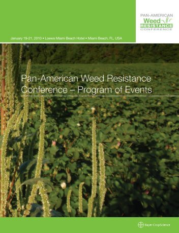 Pan-American Weed Resistance Conference – Program of Events