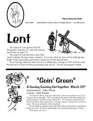 Newsletter - Good Shepherd Lutheran Church