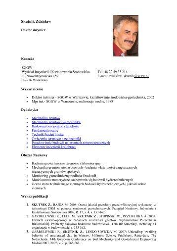 Skutnik Zdzisław - SGGW