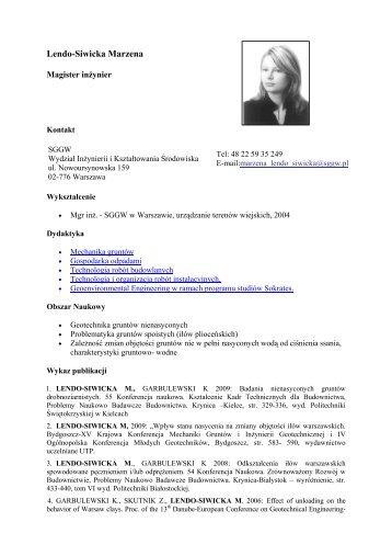 Lendo-Siwicka Marzena - SGGW