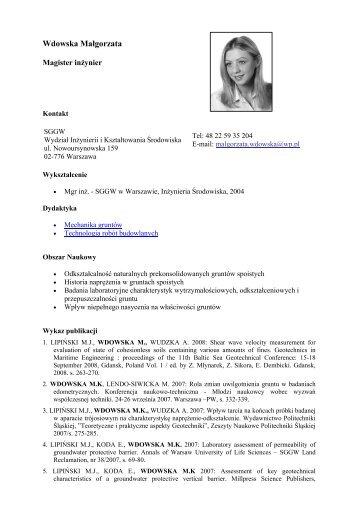 Malinowska Edyta Ewa - SGGW