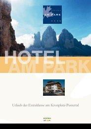 Prospekt Hotel Am Park (PDF, 2514 KB)
