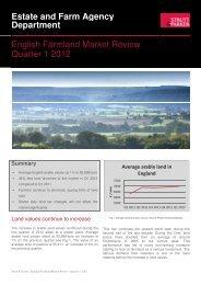 Department English Farmland Market Review Quarter 1 2012