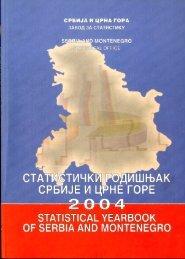 Zavod za statistiku Srbije i Crne Gore, Beograd, Kneza Milo{a 20 ZA ...