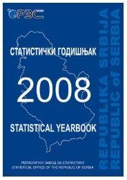 статистички годишњак србије 2008 statistical yearbook of serbia
