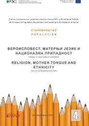 religion, mother tongue and ethnicity - Републички завод за ...