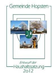 Teilergebnisplan 2012 - Gemeinde Hopsten