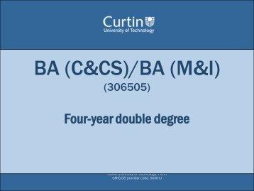 BA (C&CS)/BA (M&I)