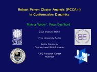 Robust Perron Cluster Analysis (PCCA+) in Conformation ... - ZIB