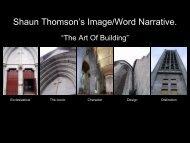 Shaun Thomson's Image/Word Narrative