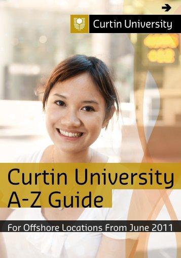 Curtin University A-Z Guide