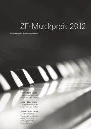 ZF-Musikpreis 2012 - ZF Friedrichshafen AG