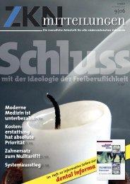 Zahnersatz zum Nulltarif?! - Zahnärztekammer Niedersachsen