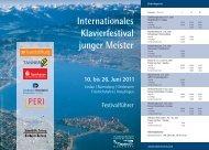 Internationales Klavierfestival junger Meister - ZF Friedrichshafen AG