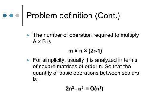 Problem definition (Cont